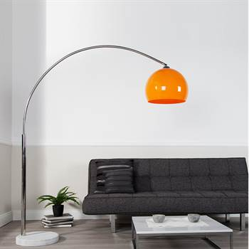 "Retro  DESIGN LAMPE ""BIG BOW"" Bogenlampe orange"