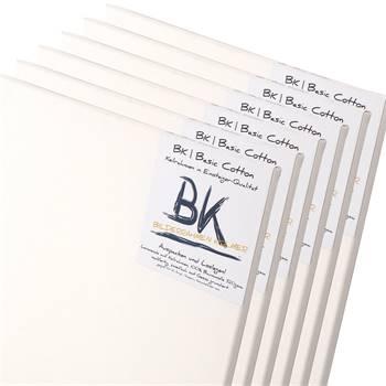 6 B.K. BASIC Leinwände | 18x24 cm | auf Keilrahmen, 100% Baumwolle