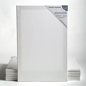 6 BK BASIC Stretched blank canvases on stretcher bars 20x100cm~8/40""