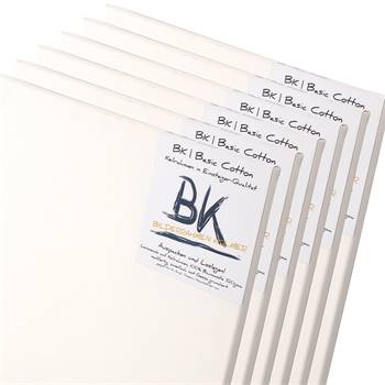 6 B.K. BASIC Leinwände | 40x80 cm | auf Keilrahmen, 100% Baumwolle