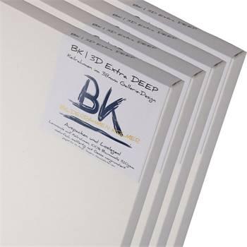 4 B.K. DEEP EDGE Leinwände | 100x100 cm | Keilrahmen, 100% Baumwolle