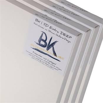 4 B.K. DEEP EDGE Leinwände | 80x80 cm | Keilrahmen, 100% Baumwolle