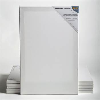 """6 PREMIUM stretched blank canvases on stretcher bars ~10x53""""(25x135cm)"""