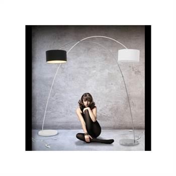 """Design Bogenlampe """"Schwanenhals"""" Lampe mit Dimmer weiß"""