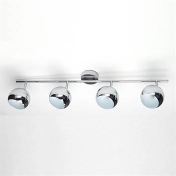"""Pendelleuchte """"SILVER BOWLS"""" Lampe mit 4 Leuchten chrom 105 cm"""