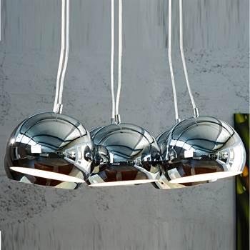 """Design Hängeleuchte """"SILVER PEARLS"""" 115 cm Hängelampe chrom"""