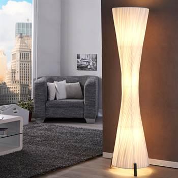 """Lounge Design Stehlampe """"SILUETA"""" Wohnzimmerlampe 160cm weiß"""