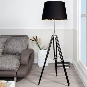 """Design Stehleuchte """"STATIVA"""" höhenverstellbare Stehlampe 153cm"""