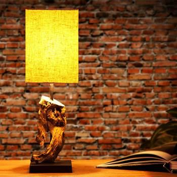 """Tischleuchte """"CORTEZA"""" 45 cm aus Treibholz mit Leinenschirm"""