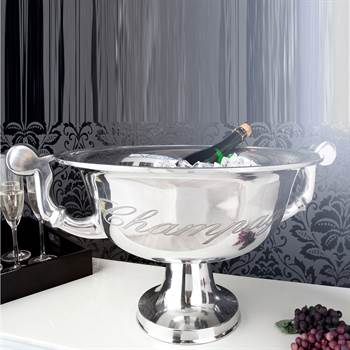 "Noble champagne cooler ""PERLÈE"" bucket decoration 25"" silver"