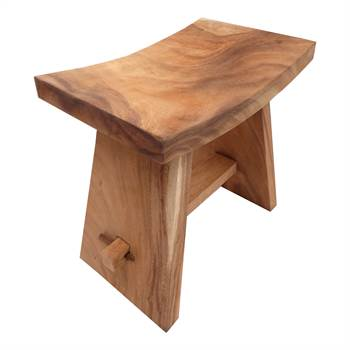 "Design stool ""FINCA"" chair seat made of teakwood brown"
