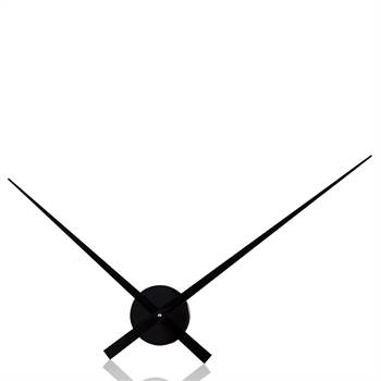 "Huge wall clock ""BIG TIME"" clockwork mechanism black 35.5"""