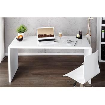 """Design Schreibtisch """"HELSINKI"""" 140cm breit weiß hochglanz"""