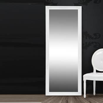 """Großer Wandspiegel """"ALESSANDRO"""" Barock Ankleidespiegel weiß 185 cm"""