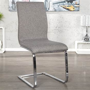 "Elegant cantilever chair ""LINEA II"" dining chair with fabric cover"