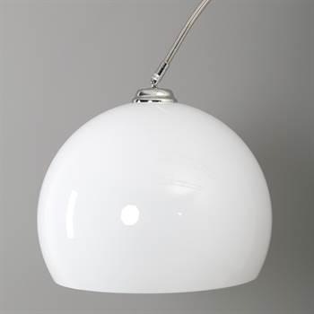 """Riesige Bogenlampe """"BIG ARC PRO"""" Stehlampe mit Dimmer weiß"""