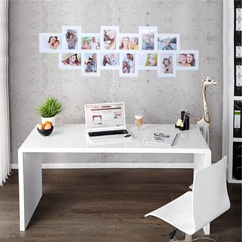 "Modern desk ""HELSINKI"" bureau 63"" highgloss white"