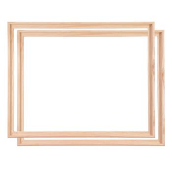 2 WOOD TRAY SHADOW GAP FRAMES FOR ARTIST CANVAS 80x100c