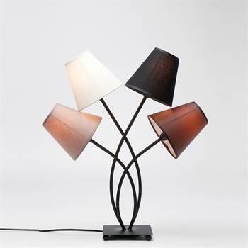 einzigartige lounge tischlampe quartett lampe vierflammig 56 cm. Black Bedroom Furniture Sets. Home Design Ideas
