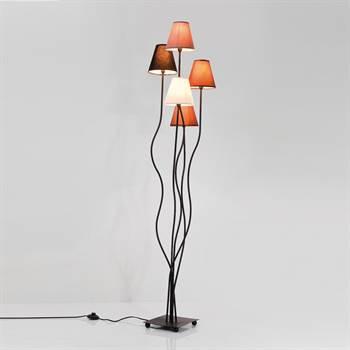 "Einzigartige Lounge Stehlampe ""QUINTETT"" flexible 5er Lampe 163 cm"