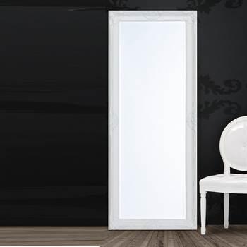 """Barock Wandspiegel """"JOHANNA"""" Facettenschliff 60 x 150 cm weiß"""