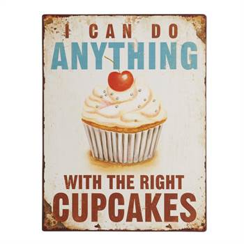 "Vintage Metall Schild ""I CAN DO ANYTHING..."" Wanddeko 27x35 cm"