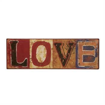 """Vintage Metall Schild """"LOVE""""  Retro Wanddeko 39x13 cm"""
