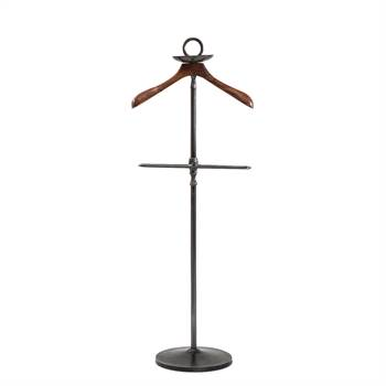"Nostalgic design valet stand ""URBAN"" wardrobe clothes rack black brown"