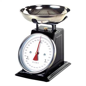 "Retro Design Metall Küchenwaage ""SCALE"" Waage bis 3 kg"