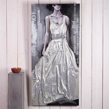 "Grosses Ölbild ""THE SILVER DRESS"" 