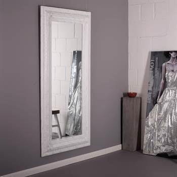 "Facettenspiegel ""AURELIA"" | 185cm, Spiegelglas & Holz | Barock"