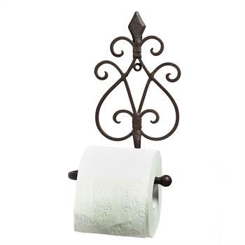 "Vintage Toilettenrollenhalter ""ANTICO"" Rollenhalter 24 cm antik-braun"