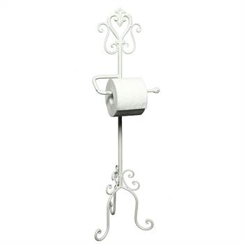 "Nostalgic toilet roll stand ""SERVANT"" roll holder 30.7""antique-white"