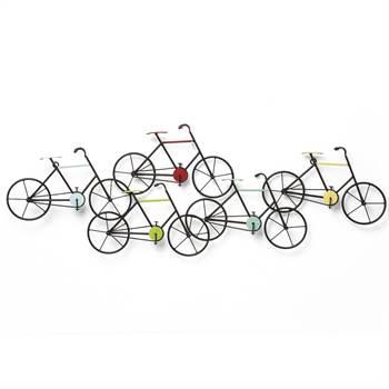 """Trendige Wandgarderobe """"BICYCLE"""" 5 Fahrräder"""