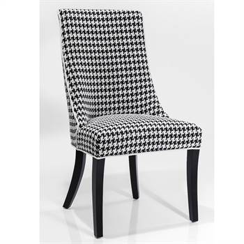 "Elegant design chair ""JOSEFA"" dining room stool black and white"