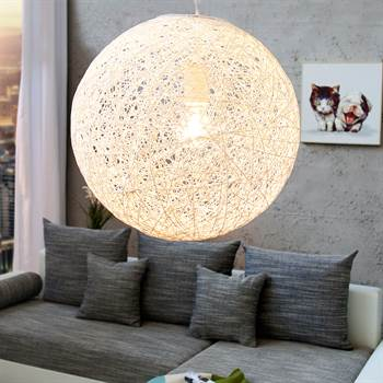 design h ngelampe planet 2 35 cm weiss xtradefactory. Black Bedroom Furniture Sets. Home Design Ideas