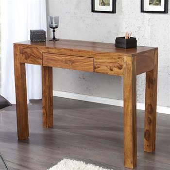 """Konsolentisch """"SHEESHAM"""" 100 cm Sheesham Holz Laptop Tisch"""