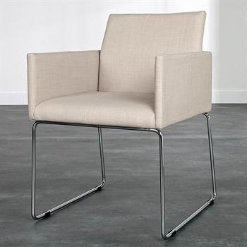 "Design chair ""CONFERENCE"" armchair with fabric cover"