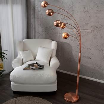 "Design Lounge Stehlampe ""5 FIVE FINGERS"" retro kupfer"