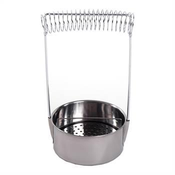 Pinselwaschbehälter | 19 cm, Edelstahl, silber | Pinselwascher