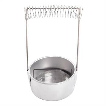 Pinselwaschbehälter | silberfarben, 19,5 cm, Aluminium | Pinselwascher