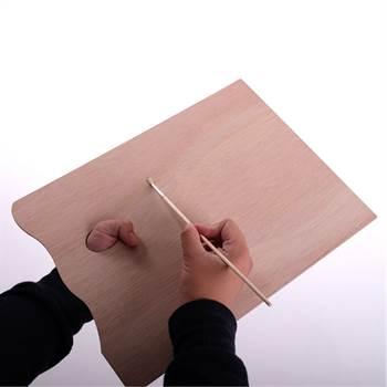 Grosse Holz Mischpalette | rechteckig, 30 x 40 cm, 3 mm | Farbpalette