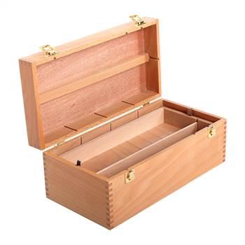 "WOODEN ARTIST STORAGE BOX | 16"", beech wood"