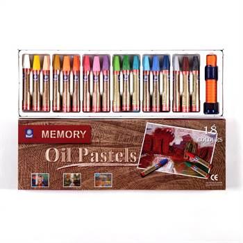 Öl Pastellkreide | Ø 1 cm, 7,4 cm, 18 Farben Set | Ölkreiden