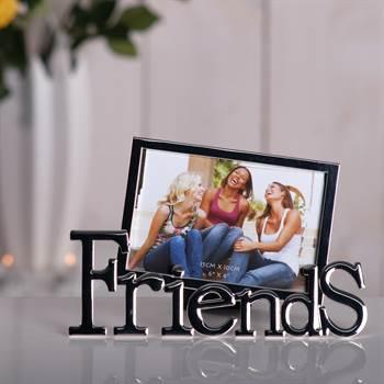 """Bilderrahmen """"FRIENDS"""" Fotorahmen 10x15 cm silber"""
