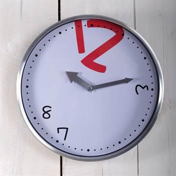 "Design wallclock ""DIFUSA"" clock Ø 11.5"" silver"