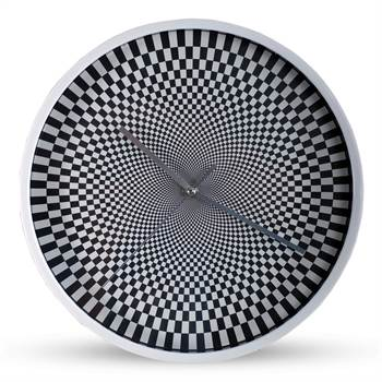 "Design wallclock ""ILLUSION"" clock Ø 12"" black white"