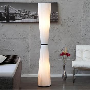 """Stehleuchte """"ELEGANCE"""" Wohnzimmerlampe Bodenlampe 170 cm weiß"""