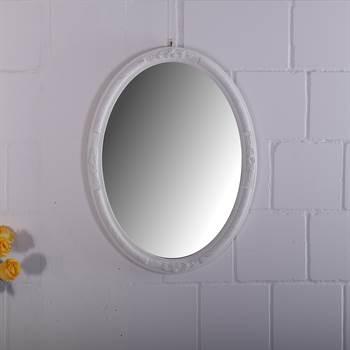"Barock Spiegel ""MIA"" | oval, 77 cm, Holz | Nostalgie Wandspiegel"