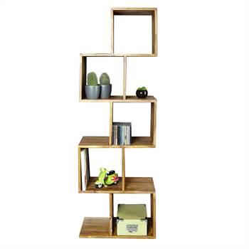 "Holz Regal ""STEPS"" | Sheesham massiv, 150 cm | Bücherregal"